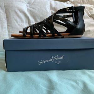 76f05bf72aa Universal Thread Shoes - Black Universal thread gladiator sandals - Target